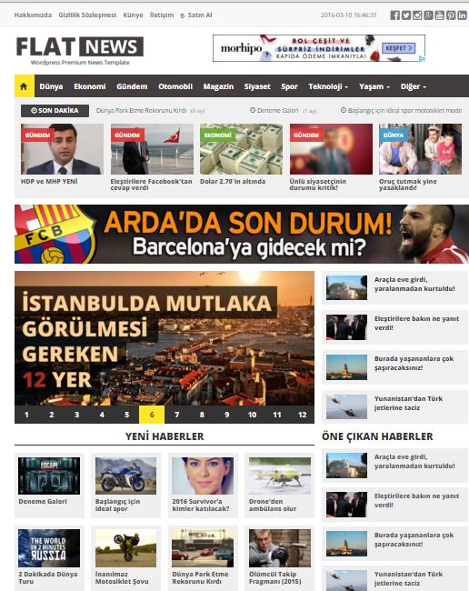 limonwp-flatnews-wordpress-haber-temasi